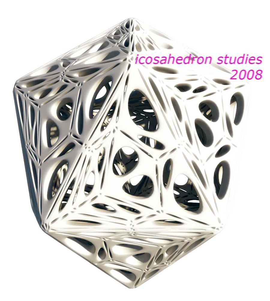 Icosahedron 1, Buckminster Fuller Homage, Rocker Lange, Architecture, Platonic Solid