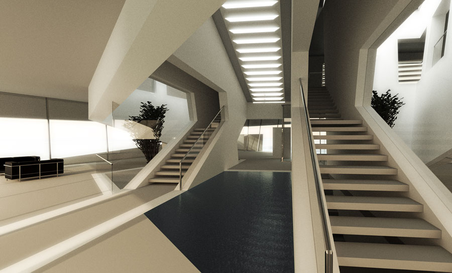 Ordos100 Ordos 100 Villa, Rocker Lange, Interior