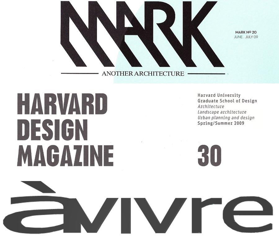 Mark Magazine, Harvard Design Magazine, Architecture Avivre, Rocker Lange Architects