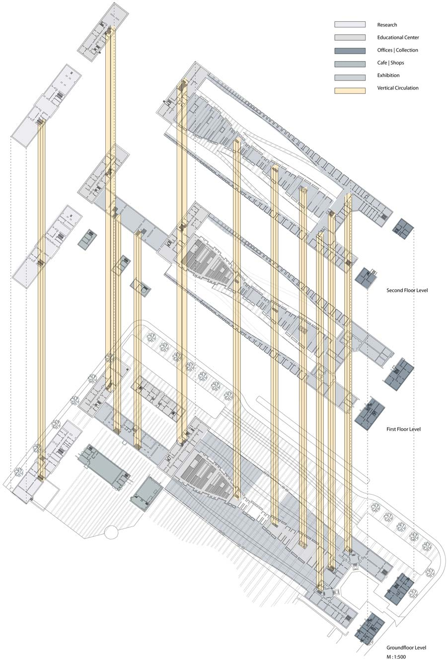 Plan, Rocker Lange Architects, Museum of Natural History, Competition, Copenhagen, Christian J Lange