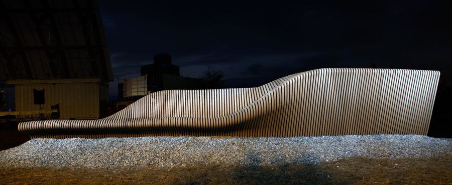 Urban Adapter, Urban furniture, night shot, Rocker Lange Architects, Hong Kong & Shenzhen biennale, Christian J Lange