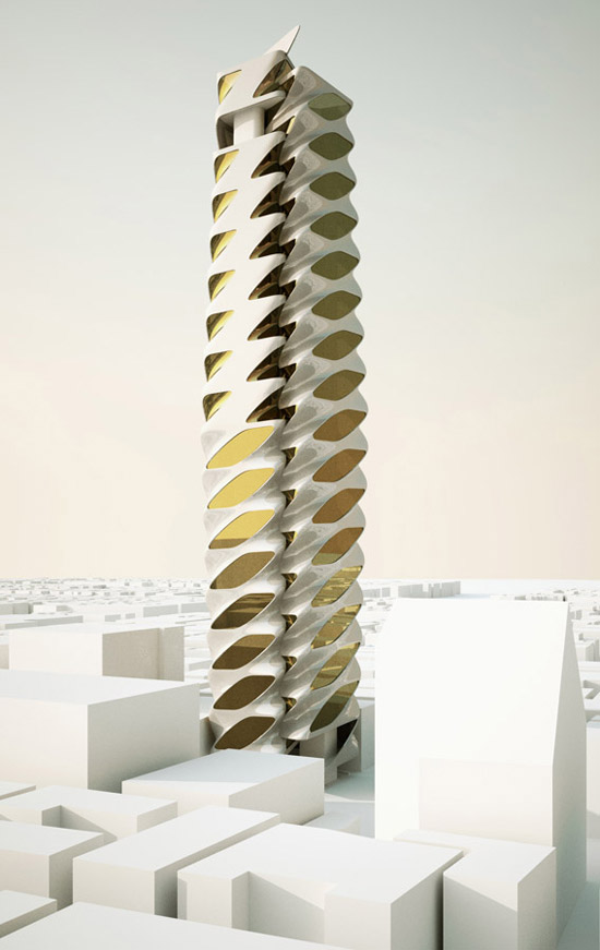 Tokyo, Fashion Museum Omotesando, Tower Competition, Rocker Lange Architects, Christian J Lange, Parametric Architecture, Perspective_02, variation, digital architecture, difference