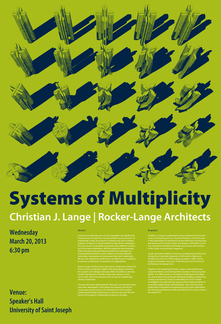 Systems of Multiplicity, Christian J. Lange, Rocker Lange Architects
