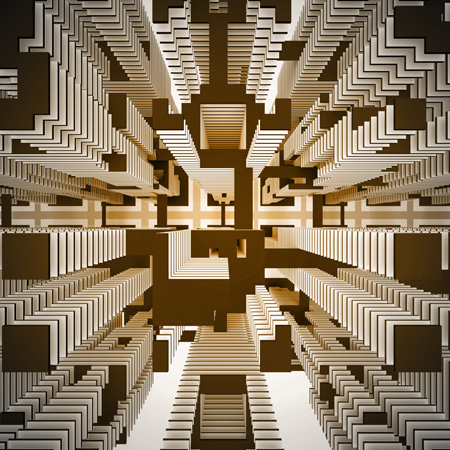 RLA_ICRCS_02, The ideal City of refigured Civic Space, Cellular Automata Architecture, vertical urbanism
