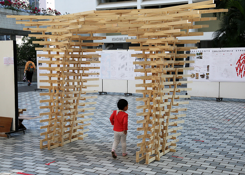 elements, robotic intervention, The University of Hong Kong, Architecture, robotic fabrication, Dou Gong, Christian Lange