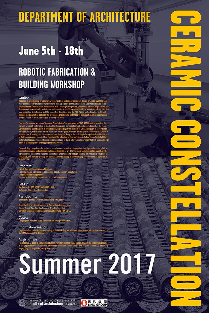 Ceramic Constellation, Robotic Fabrication, 3d printed bricks