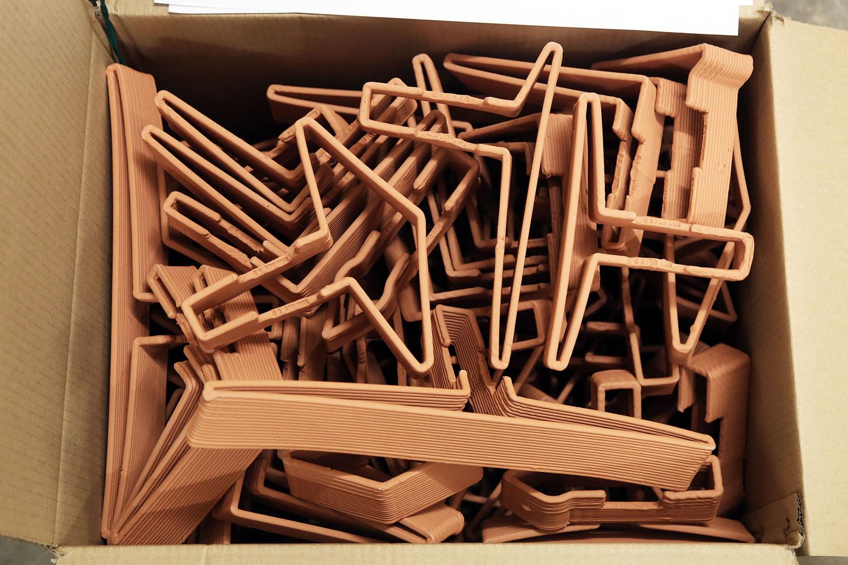 robotically fabricated terracotta bricks