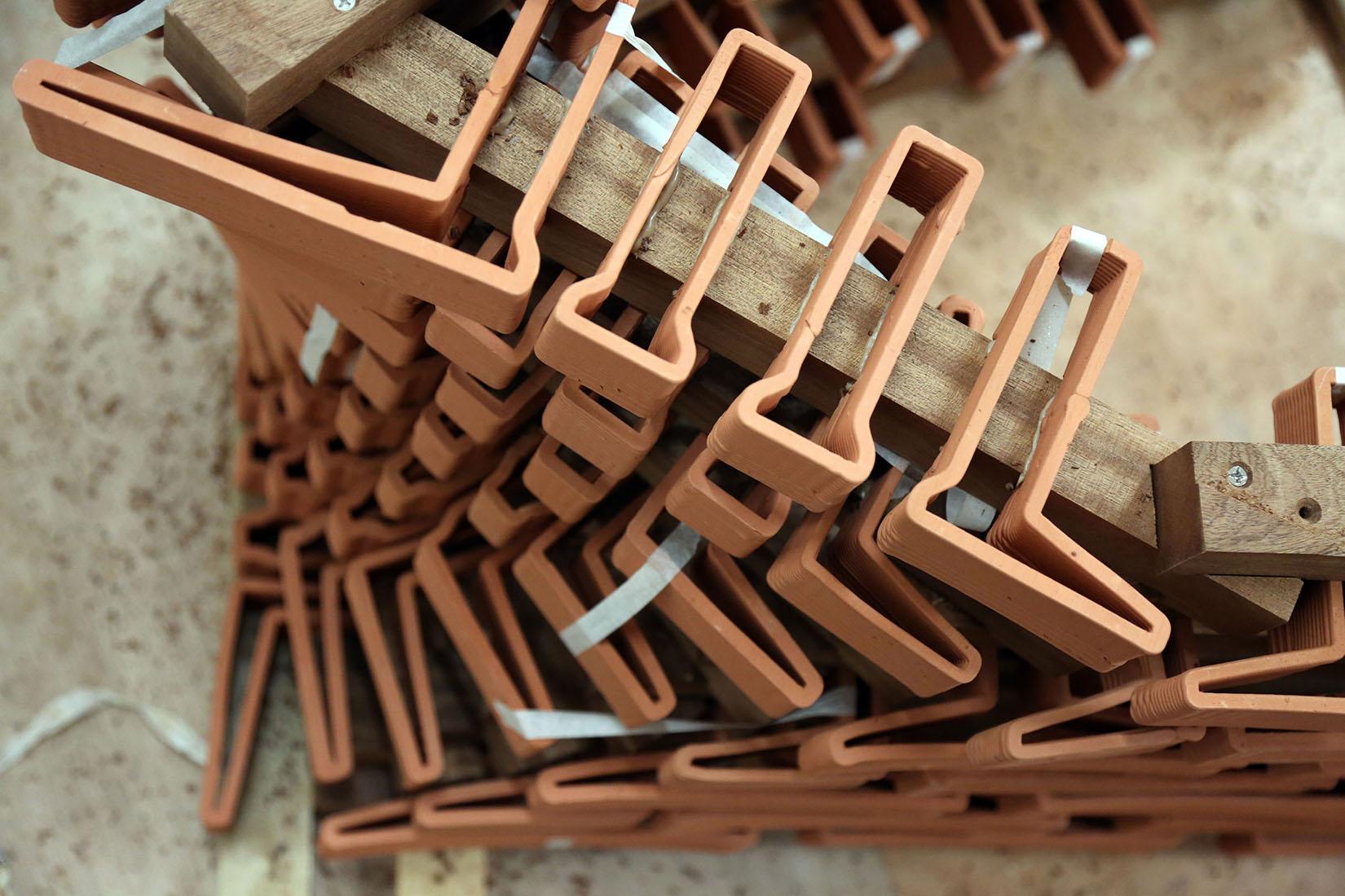 Ceramic Constellation Pavilion, clay robotics, 3d printed bricks, robotically manufactured teracotta bricks, ceramic architecture