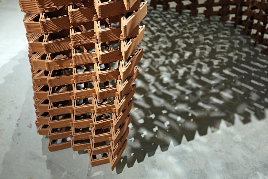 CeramicINformation Pavilion, brick architecture, robots in architecture