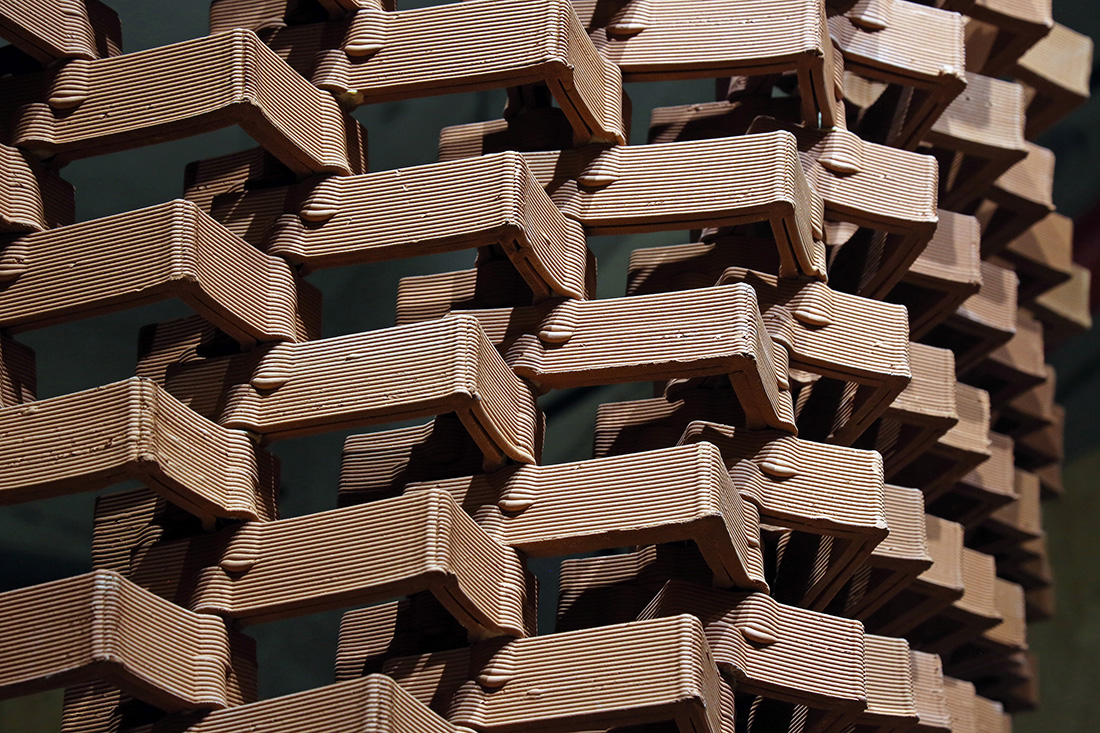 Ceramic IN formation Pavilion, robotically manufactured bricks, Shenzhen Biennale 2018, HKUrbanLAB, The University of Hong Kong, Faculty of Architecture