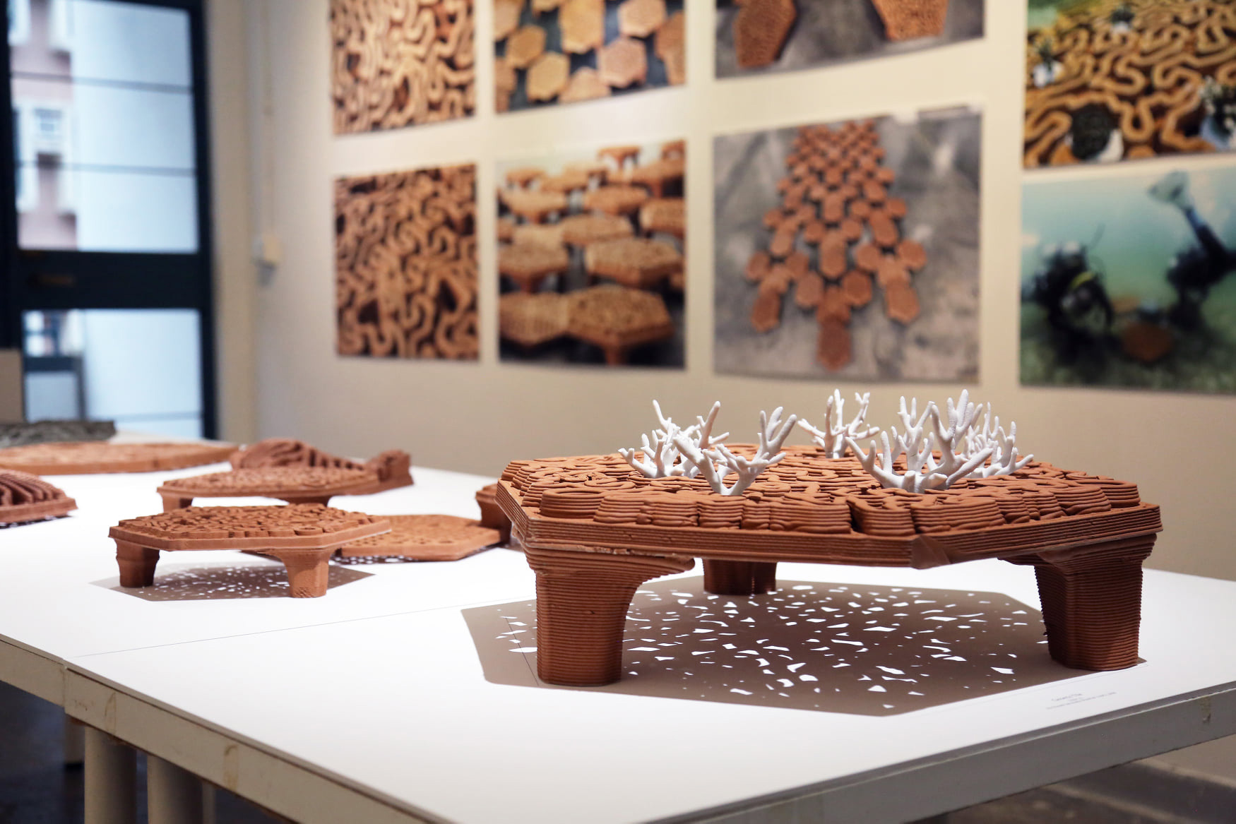 Christian J. Lange, autobryks3D, 3d printing, robotic fabrication, coral reef, artificial coral reef, coral restoration, terracotta architecture, 3D printed coral