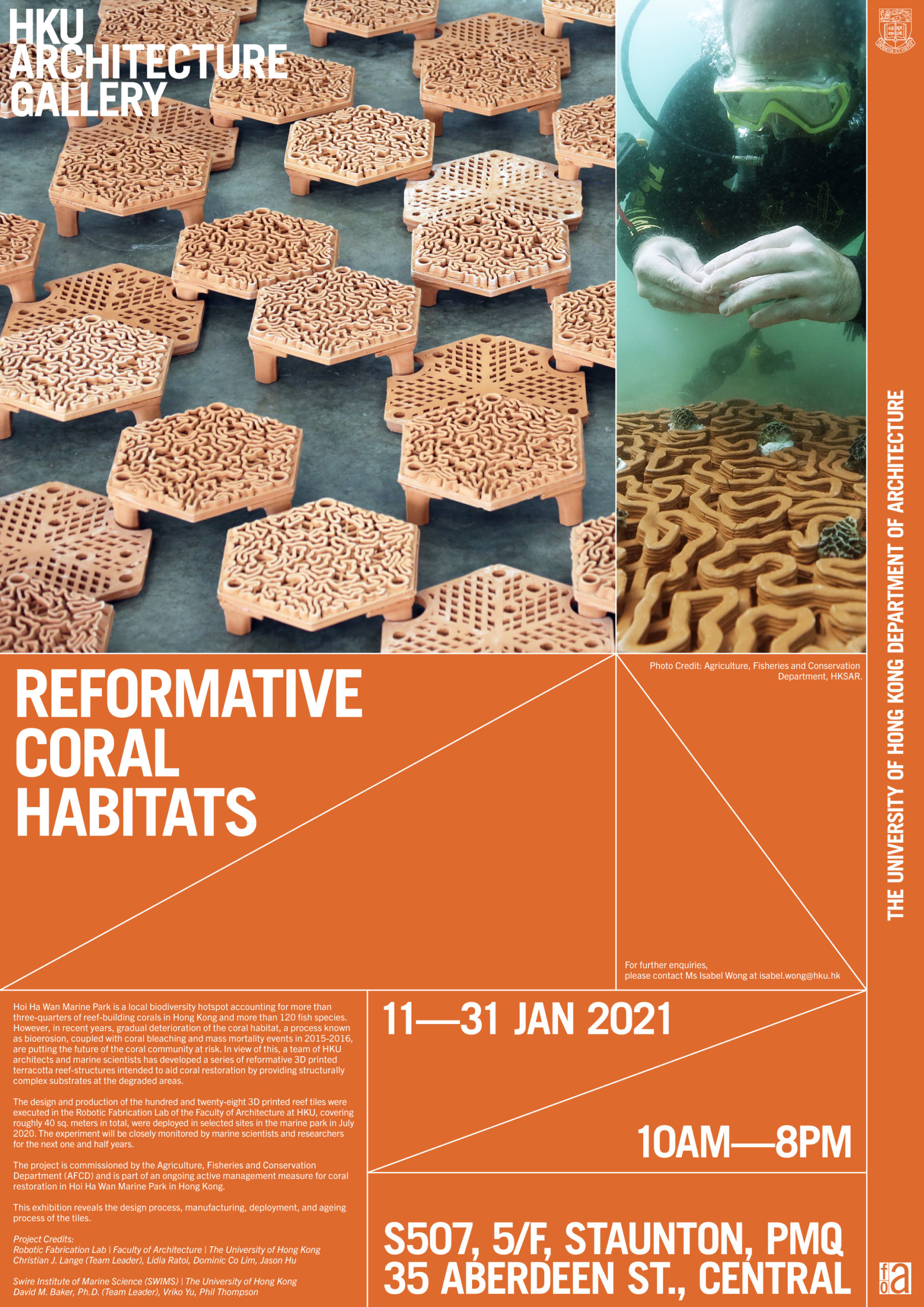 Christian J. Lange, autobryks3D, 3d printing, robotic fabrication, coral reef, artificial coral reef, coral restoration, terracotta architecture, 3d printe reefs, Hong Kong, clay printing