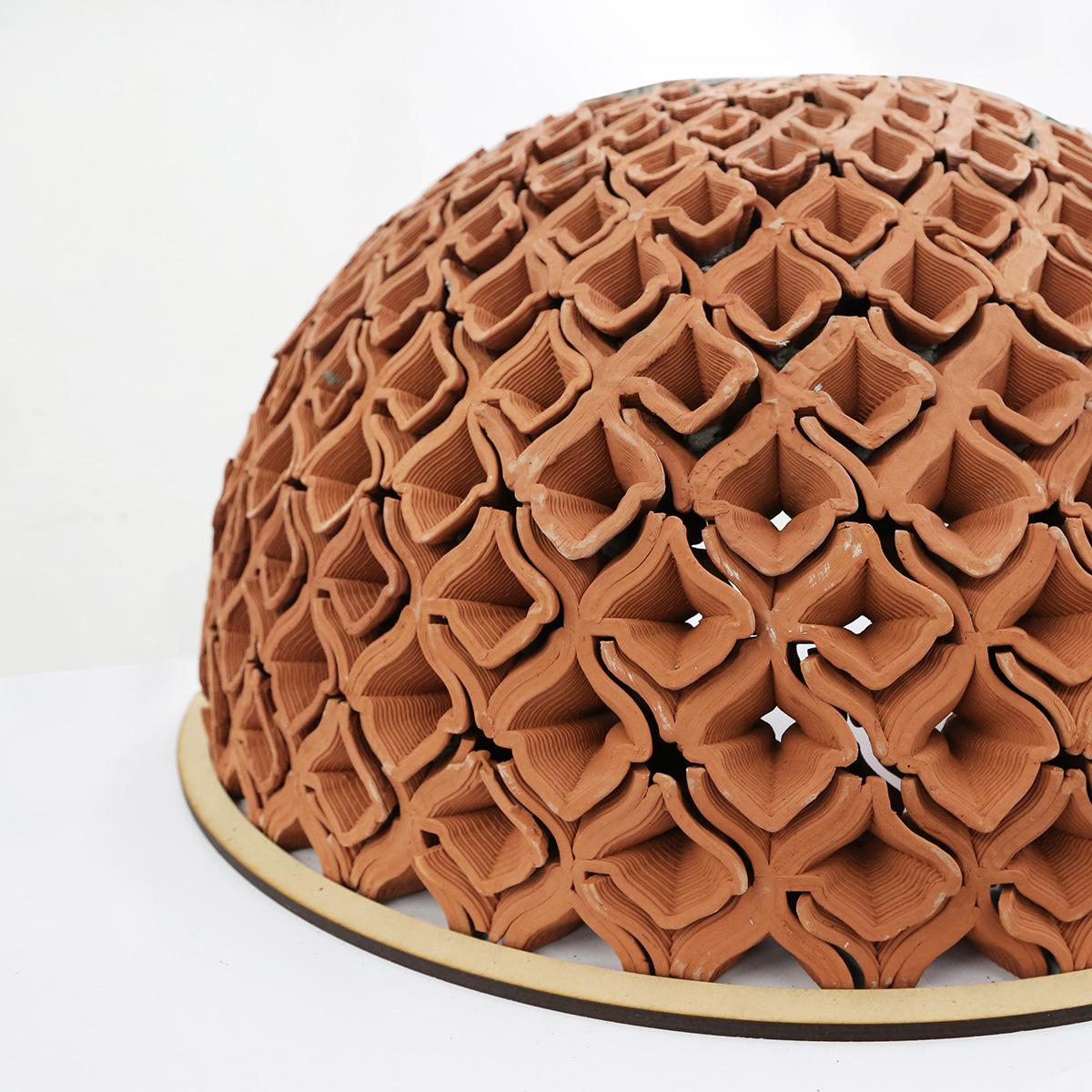 Robotic clay printing, autobryks, Brick specials, vaults, domes, arches, architecture, Christian J Lange, autobryks 3d
