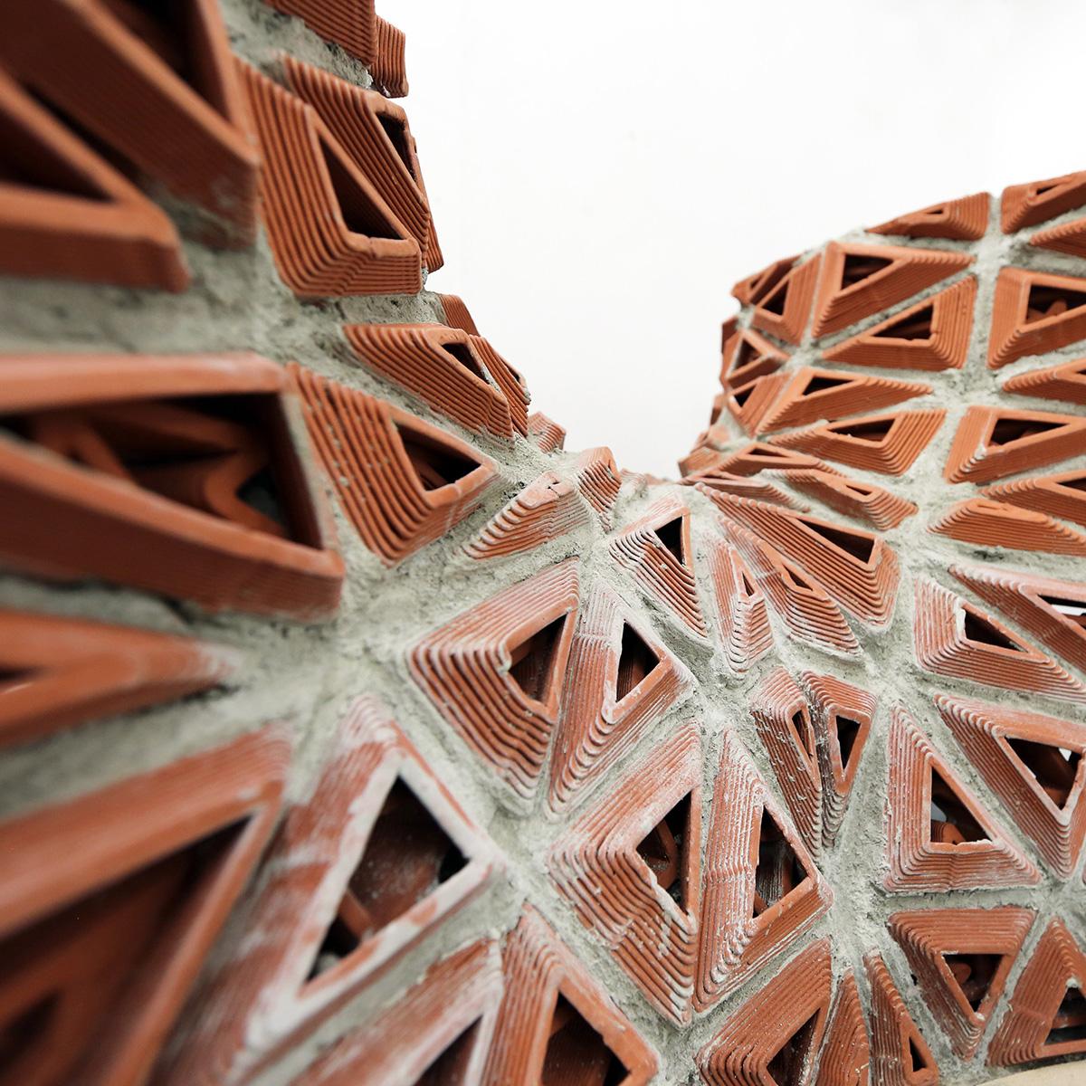 3d printed brick, terracotta, Hong Kong, architecture, Christian J Lange
