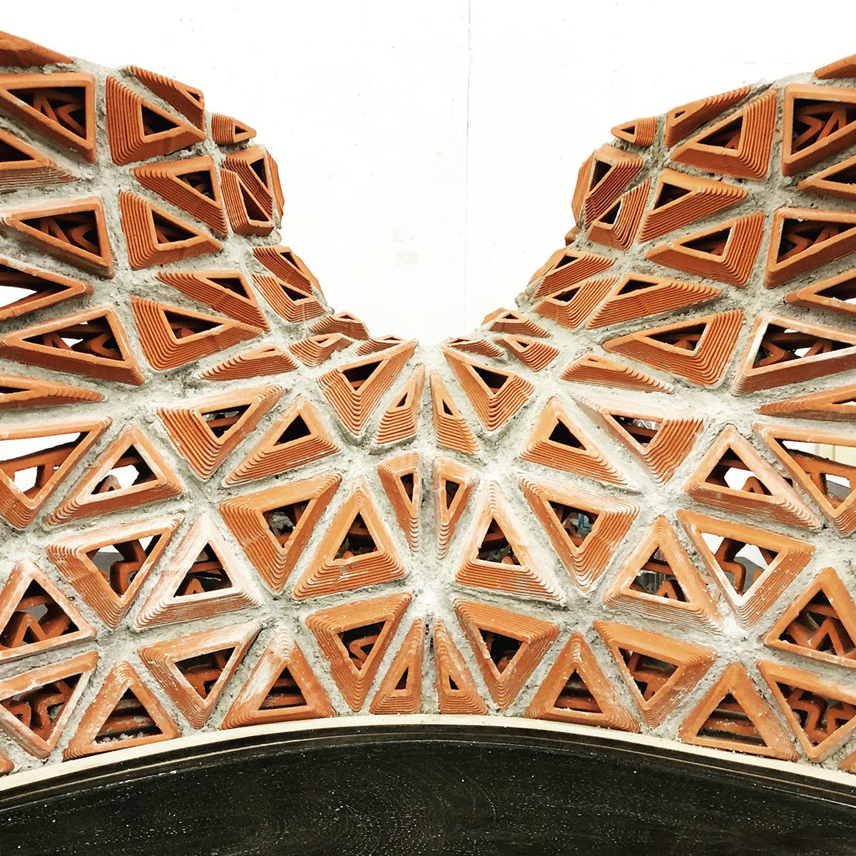 acoustic brick, 3d printed brick, 3d druck, ziegel, Christian J Lange J